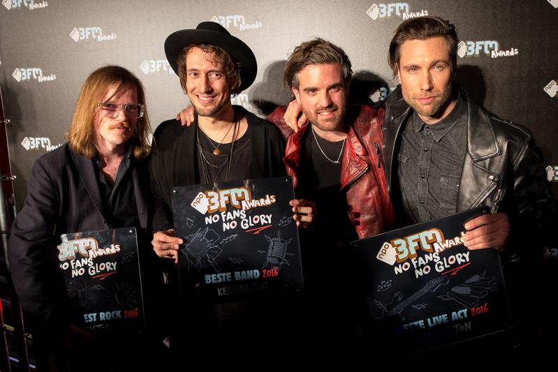Kensington, de grote winnaars van de 3FM Serious Talent Awards. Ze gingen met maar liefst 3 awards naar huis. Namelijk voor beste artiest rock, beste band en beste live act [fotocredit Harold Versteeg   BrunoPress]